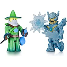 Roblox- Emerald Dragon Master and Frost Guard General (Two Figure Pack)