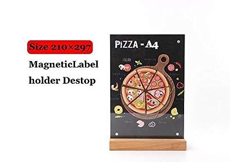 Amazon.com: Soporte para tarjetas y notas, A6/a5/a4, madera ...