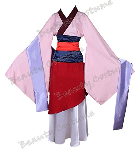 [Beauty Costume Chinese Heroine Hua Mulan Dress Halloween Outfit (Custom made)] (Custom Made Halloween Outfits)