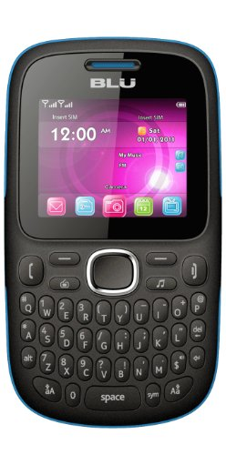 BLU Q170T Samba TV Unlocked Dual SIM Quad-Band GSM Phone (Black/Blue)