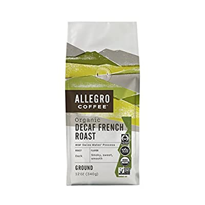 Allegro Coffee Decaf Organic French Roast Ground Coffee, 12 oz