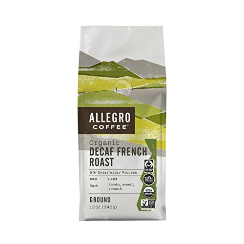 Allegro Coffee Decaf Organic French Roast Ground Coffee, 12 (Organic Coffee Whole Bean French)