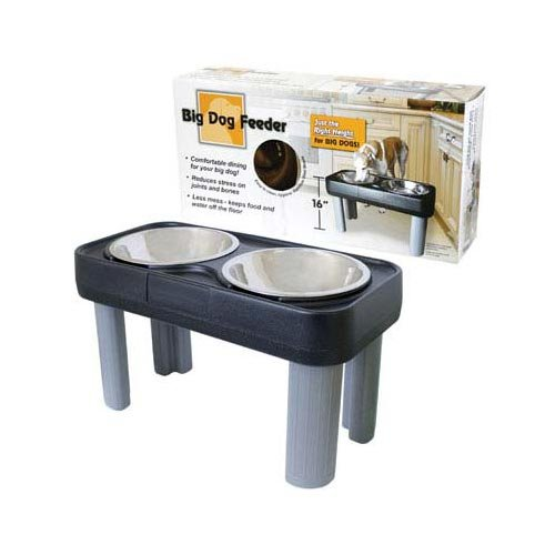 Big Dog Feeder Black 16'' (3 Pack) by Our Pets