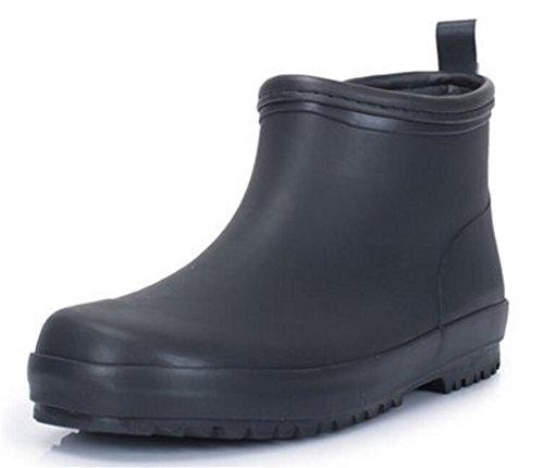Adult Men's Antiskid Short Ankle High Rubber Water Resistant Shoes Rain Boots