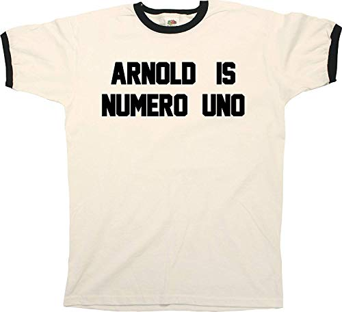 PCAprint Arnold is Numero Uno Funny Mens Ringer T-Shirt Retro Style-XXXX-Large Arnold Is Numero Uno T-shirt