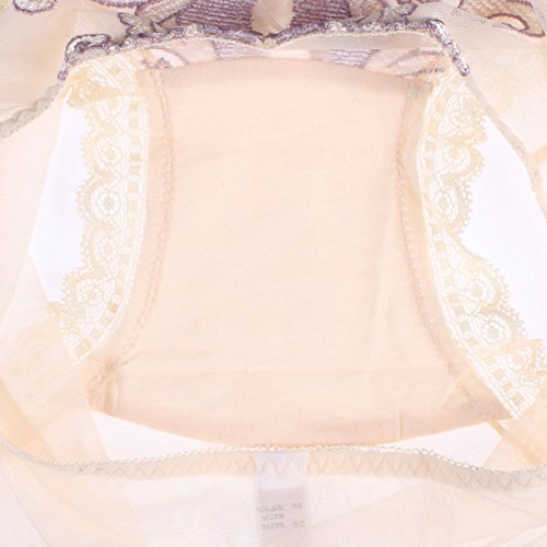 POKWAI Ropa Interior De Algodón Bikini Rayas Bragas Para Las Mujeres Cómodo Sin Aliento Color