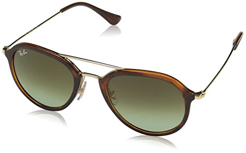 Ray-Ban Injected Unisex Square Sunglasses, Stripped Havana, 50 - Wood Glasses Ray Ban