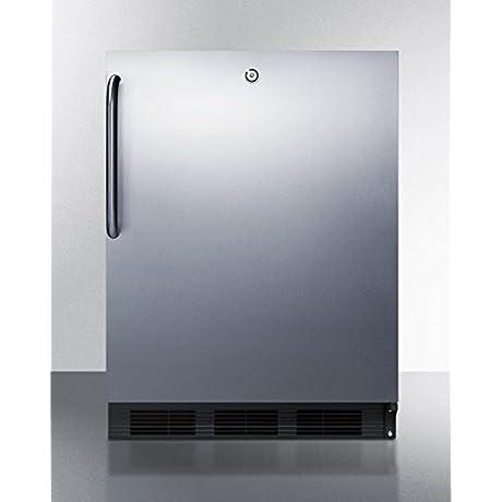 Summit FF7LBLBISSTBADA Refrigerator Stainless Steel
