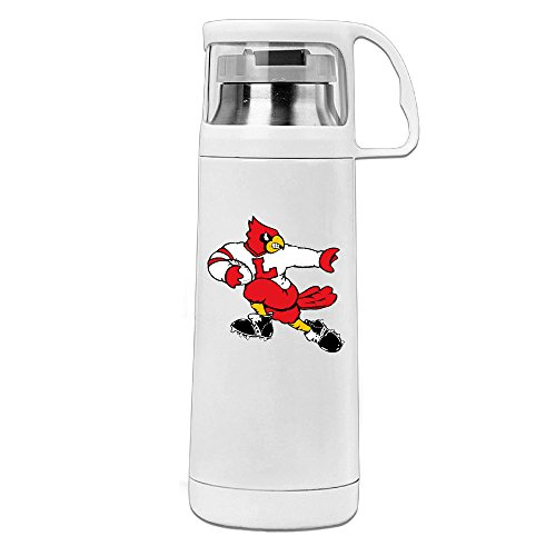 MARC Stainless Steel Vacuum Insulated Travel Mug University Of Louisville Cardinals Handled Water Bottle White 14oz/350ml