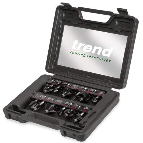 Trend PSS8X1/4TC 12 Piece Tungsten Carbide Router Cutter Set 1/4″