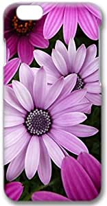 Purple Daisies Apple iPhone 6 Case, 3D iPhone 6 Cases Hard Shell Cover Skin Casess