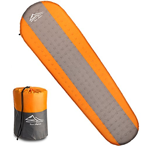 Self Inflating Ground (Raw Alpine Self Inflating Sleeping Pad - 2 Inch Thickness And Foam Insulated For Comfortable Sleep - Mat is Lightweight And Compact For Backpacking Outdoor Camping And Hiking - For Women Men And Kids)