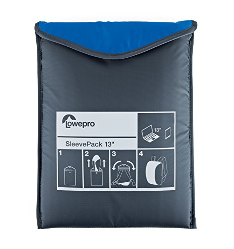 "Cheap Lowepro SleevePack 13. Convertible Laptop Sleeve Bag and Travel Backpack for 13"" Laptop. (Horizon Blue/Grey)."