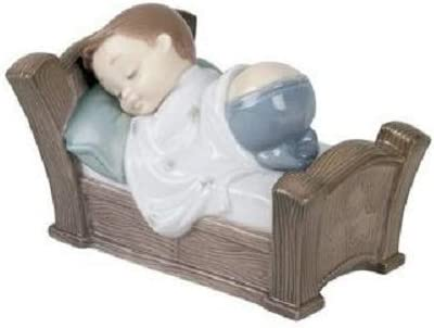 Nao by Lladro Collectible Porcelain Figurine SNUGGLE DREAMS – 3 1 4 tall – young boy sleeping