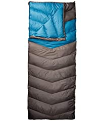 Galactic, out of this world comfort and warmth. Taking rectangular bags to the next Frontier. Compact enough for backpacking, but still cozy and roomy for a comfortable night of car camping. Featuring Drawdown insulation, Down fill stays drie...