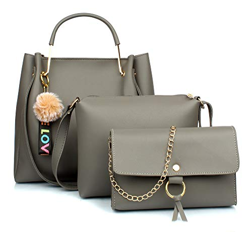 Mammon Women's Stylish Handbags Combo (3LR-Tie-tan)