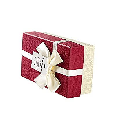 """Drasawee Portable Basket Shape Gift Box for Christmas Festival Special Occassions Dark Red 5.5X3X2"""""""