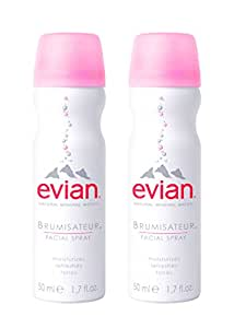 evian Natural Mineral Water Facial Spray Duo, 1.7 oz. Travel Size (2 pack)