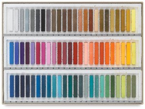 Holbein Soft Pastels Cardboard Box Set of 72 - Assorted Colors