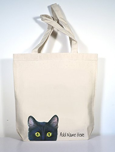280882033c Amazon.com: Cat Tote Bag, Pick Cat Color, Add Custom Text of Your Choice!:  Handmade