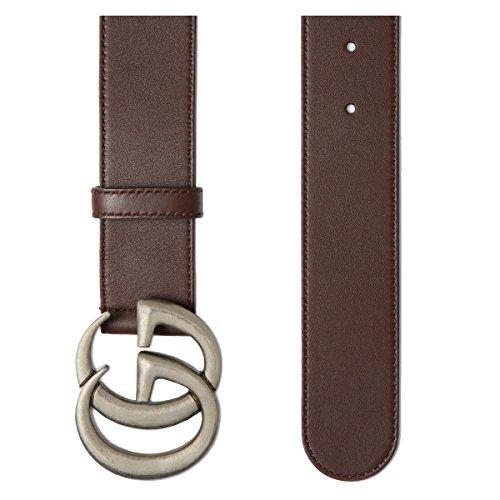 9c238af72 Gucci Cinturón de piel para hombre DOUBLE G (397660AP00N2145) 50% de  descuento