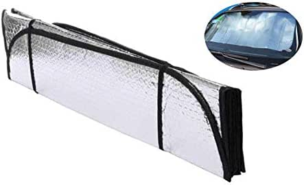 ZBTH Front Windshield Sun Shade, Double-Sided Car Sun Block Summer Aluminum Foil Sunscreen Insulation Visor, Sunshade to Keep Your Vehicle Cool, for Most Car