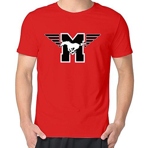 100% Cotton Man Flying M SMU Mustangs T Shirts ()