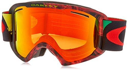 Rasta Ski (Oakley O2 XL Ski Goggles, Burned Out Rasta/Fire)