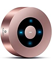 XLEADER SoundAngel (2 Gen) 5W Touch Bluetooth Speaker with Waterproof Case, 15h Music, Louder Crystal HD Sound, Premium Mini Portable Bluetooth Speaker for iPhone iPad Tablet Shower Gift, Rose Gold