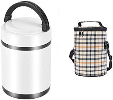 サーマルランチボックス、フードサーモス、1.9L、子供用と大人用の食品、飲み物、スープ用の断熱ステンレススチールボトル(6時間保温)、断熱バッグ付き