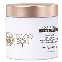 Coco Soul Ayurvedic & Coconut Body Butter - 6.76 fl.oz. (200g) - Shea Butter & Lodhara...