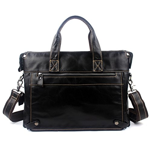 For New Working Business Genuine Leather Shoulder 2 color Laptop Men Handbag Bag 2 Quality High Briefcase Outdoor tPvqxOv