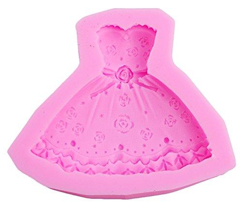 SHOT-in 3D Kleid Silikon Fondant Form Zucker Kuchen Schokolade Zuckerguss Form