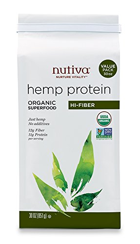Nutiva Organic Hemp Protein Hi Fiber , 30-Ounce Bag