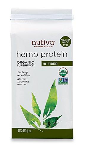 Nutiva Organic Hemp Protein Hi Fiber , 30-Ounce Bag (Hemp Protein Plus Fiber)