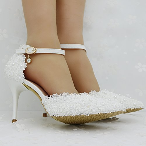 with Shoes Women's Thin Mouth Shoes LEIT White Shoes fine Shallow high Heeled nAdHO