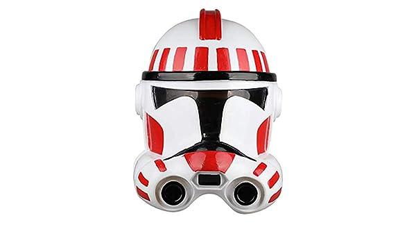 SDKHIN Máscara de Star Wars Soldado Blanco Soldado de Asalto Clone Soldado Casco Película de Halloween Cosplay Accesorios de Casco Máscaras de PVC Blanco-OneSize,White-OneSize: Amazon.es: Hogar