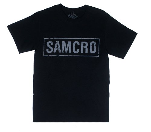 Samcro Banner - Sons Of Anarchy T-shirt: Adult XL - Black (Sons Of Anarchy Shirt)