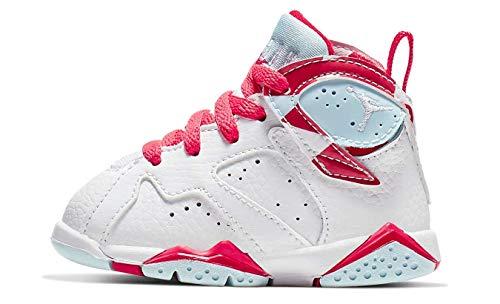 Air Jordan 7 Retro Topaz Mist Ember Glow White/White-Topaz Mist (TD) (7 M US Toddler) (Toddlers Shoes Boys Jordan)