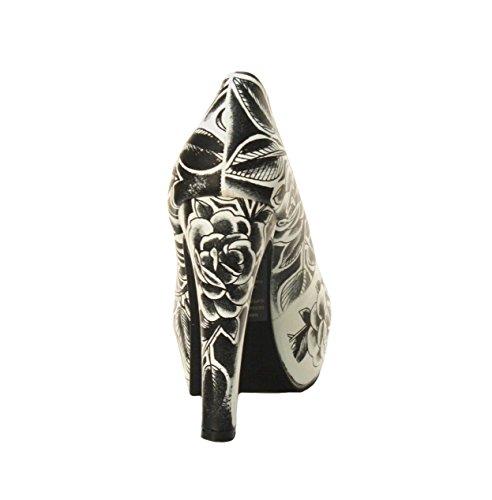 Schwarz Schwarz PUMP Metal Mulisha SERENITY Footwear Schuhe Weiß wn4qTf