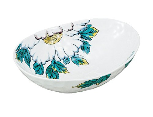 Kutani Yaki Peony 7.3inch Medium Bowl Porcelain Made in Japan (Bowl Peony Vegetable)