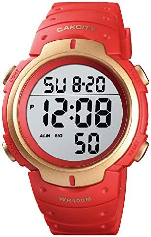 CakCity Digital Watch for Men Waterproof 100M Sports Watch with Alarm Stopwatch LED Large Display Black-Upgraded Version