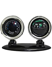 Wakauto Car Compass Ball 2 in 1 Mini Compass Compact Ball Universal Dashboard Dash Stand Compass for Most Boat Car Truck Finding Direction