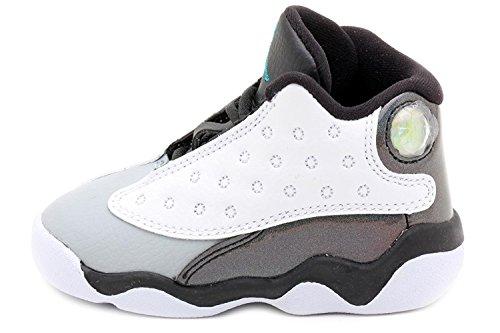 Jordan Toddlers 13 Retro BT White/Black/Wolf Grey/Tropical Teal 414581-115
