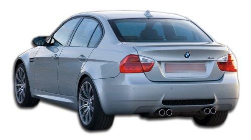 Bumper 4dr Fiberglass (2006-2011 BMW 3 Series E90 4DR Duraflex M3 Look Rear Bumper Cover - 1 Piece)