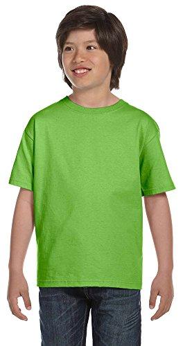 Gildan DryBlend Youth 5.6 oz., 50/50 T-Shirt, Small, LIME