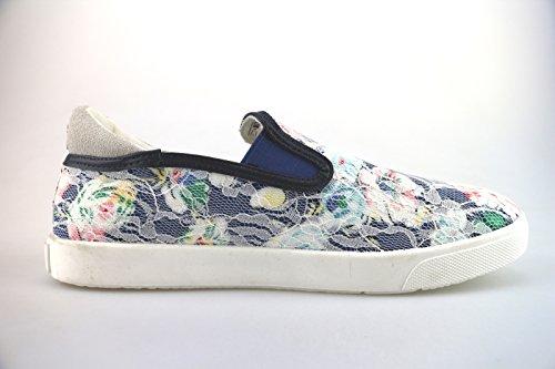 Menina Enrico Coveri Ag249 Sneakers Azul Têxteis Uwq8P