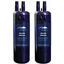 Refrigerator Water Filter W-10295370a Water Filter, Kenmore 46-9930, 46-9081, Whirl-pool W-10295370a, EDR1-RXD1, Filter 1(2 packs)