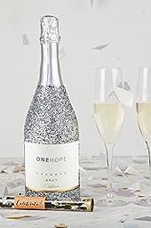 ONEHOPE Glitter Celebration Gift Set, includes California Glitter Edition Brut Champagne, 750 mL Wine, 2 Champagne Flutes, Confetti Tube