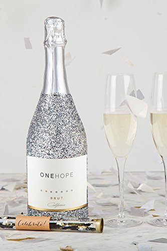 ONEHOPE Glitter Celebration Gift Set, includes California Glitter Edition Brut Champagne, 750 mL Wine, 2 Champagne Flutes, Confetti Tube